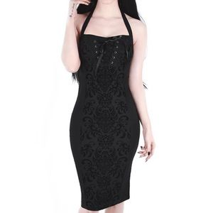 Gothic Midi Bodycon Dress Killstar Bloodlust